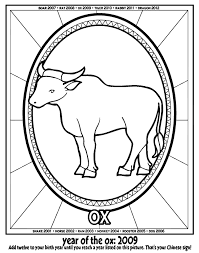 Those born under the year of the ox are determined, strong and conservative (picture: Chinese New Year Year Of The Ox Coloring Page Crayola Com