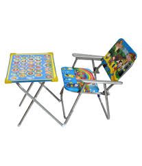 Taaza Garam kids imported Multicolor Metal Study Table and Chair Set for  kids gift toy