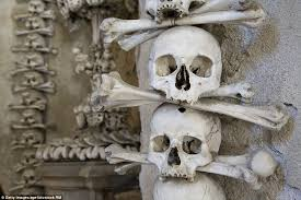 the skeletons are said to have originally been buried at the church cemetery which was