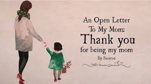 open letter to mom