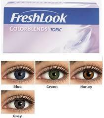 Freshlook Colorblends Toric Color Chart Vision Optical Tijuana Contact Lenses Catalog