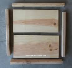 how to make wood frames step by step