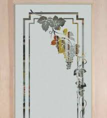 etched glass designs for kitchen cabinets. art glass cabinet designs -etched vineyard grapes cascade etched for kitchen cabinets l