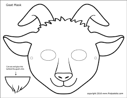 The biggest collection of printable paper masks for kids to make and play with! Goat Masks Free Printable Templates Coloring Pages Firstpalette Com