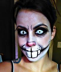 creepy rabbit makeup 2 0