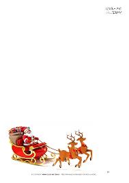 Plain Letter To Santa Template Santa Sleigh Reindeers 37