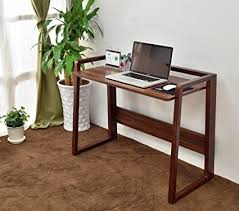 buy office desk natural. Laputa Foldable Computer Desk Natural Wood, Adjustable Height, Home Office For Small Buy L