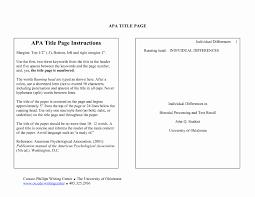 Psychology Research Proposal Example Apa Elegant Apa Format Title