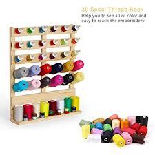 30 spool sewing thread rack wall