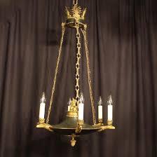 a french bronze empire antique chandelier