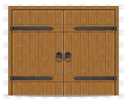 wooden door clipart. Delighful Door Old Wooden Door Isolated On White Background Vector Image U2013 Artwork  Of Architecture Buildings Click To Zoom Throughout Wooden Door Clipart
