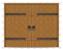 old wooden door isolated on white background vector image vector artwork of architecture buildings to zoom