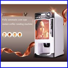 Buy Coffee Vending Machine Online Awesome Fully Automatic Coin Operated Italy Instant Nescafe Coffee Vending