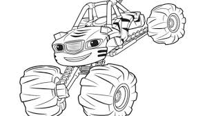 Nick Jr Blaze Coloring Pages At Getdrawingscom Free For Personal