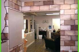 decoration basement painting ideas cinder block wall ugly floor