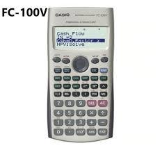 Financial Calculator Casio Fc100v Financial Calculator Fc 100v