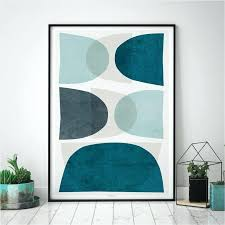 blue and gray wall art set of 3 abstract prints blue wall art prints large wall
