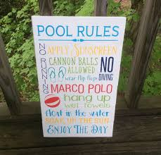 Swimming Pool Decor Signs Pool Rules Pallet Sign Swimming Pool Sign Marco Polo Sign Lanai 57