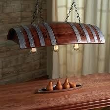 wine barrel chandelier one third oak o id lights wood lamps restaurant bar pendant restoration hardware outdoor