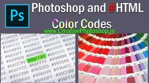 Photoshop Color Chart Photoshop Color Codes Html Color Codes List