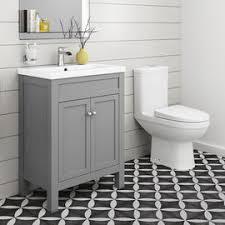 bathroom furniture sets. Simple Sets Sabrosa II Toilet U0026 600mm Melbourne Floor Standing Vanity Unit  Earl Grey And Bathroom Furniture Sets F