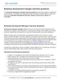 Good Interview Questions To Ask A Business Owner Business Development Manager Interview Questions
