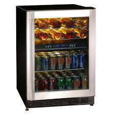 Undercounter Beverage Refrigerator Glass Door Magic Chef 16 Bottle 77 Can Dual Zone Wine And Beverage Cooler