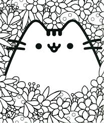 Pusheen Cat Coloring Page Pages Free As Well Printable Together With