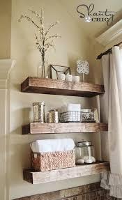Master bathrooms  DIY Chunky Floating Shelves