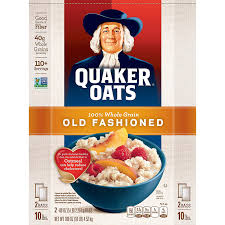 amazon quaker oats old fashioned 2 5 lb bags 100 servings 10 lb oatmeal breakfast cereals