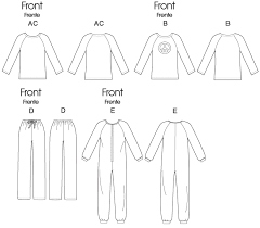 Adult Onesie Pattern Mesmerizing M48 Misses'Men's RaglanSleeve Tops Jumpsuit And Pants Sewing