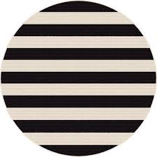 8 round black stripe indoor outdoor rug garden city rc willey furniture