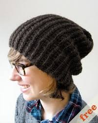 Free Slouch Hat Knitting Patterns Extraordinary Simple Slouchy Hat AllFreeKnitting