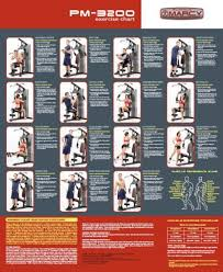 Multi Gym Wall Chart 15 Photos Of Marcy Home Gym Workout Poster Gym Workout