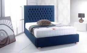 upholstered bed frame. Chesterfield Fabric Upholstered Bed Frame