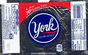york candy. i think the only change to this york peppermint pattie wrapper is little calorie emblem that all candy bars have now a days.