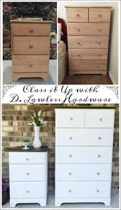 a classy furniture makeover unfinished wood dresser and nightstand
