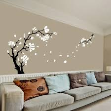 large size magnolia flower tree wall art stickers removable high quality vinyl wall decals on wall art stickers tree with large size magnolia flower tree wall art stickers removable high