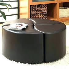 round leather coffee table ottoman round black leather ottoman round leather coffee table ottoman leather coffee