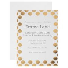 Polka Dot Invitations White Gold Foil Polka Dot Invitations Hobby Lobby 1362797