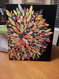 do it yourself wall art canvas board black acrylic paint s book paper