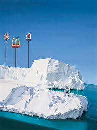astronaut painting the iceberg by scott listfield