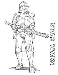 Star Wars Coloring Pages Free Printable Within Clone New Of Pics