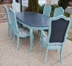 french country dining room painted furniture. fine french painted vintage french thomasville dining table using ascp graphite on the  top and duck egg blue base chairs to country room furniture e