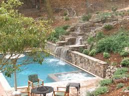 inground pool waterfalls. Sympathetic Inground Pool Waterfalls