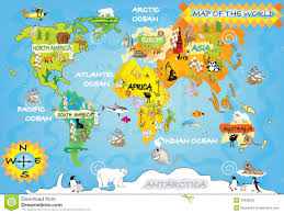 kids world map stock illustration illustration of eiffel