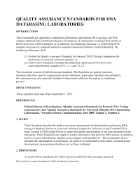 quality assurance standards for dna databasing laboratories fbi