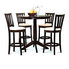 tall pub table and chairs espresso counter height dining bar 4 stools set round wooden sets tall pub table