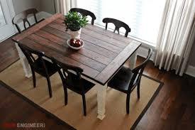 modern farmhouse table. This Farmhouse Table Has Rustic Charm But Could Still Easily Blend Into A Modern Home. And Provide Ample Seating Space In The Midst. O