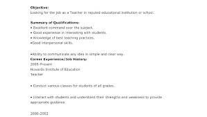 Teaching Resume Sample Teachers Examples To Primary School Teacher ...